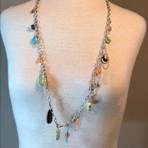 Lia Sophia multicolor beaded long necklace